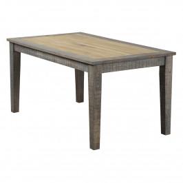 Esstisch 200x100 aus Massivholz in Beige / Braun