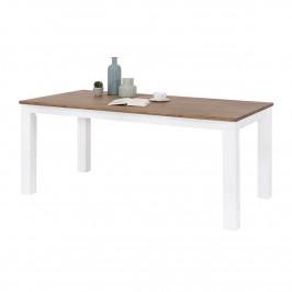 Esstisch 180 cm in Akazie Weiß / Braun