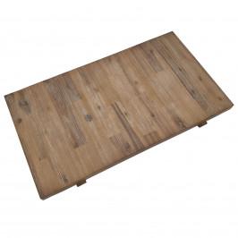 Ansteckplatte 90 x 50cm in Akazie massiv Braun