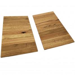 Ansteckplatte Nevada 90 x 50 cm Wildeiche Massivholz 2er Set