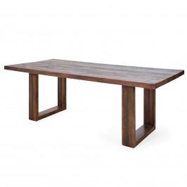 Esstisch aus Massivholz in Antik Braun 90 x 220 cm