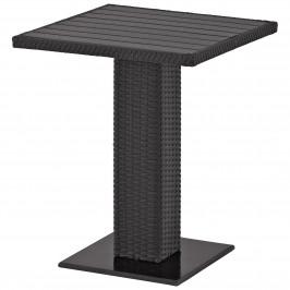 Balkontisch THY (60x60, Polyrattan, schwarz)