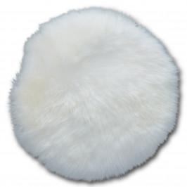 Sitzkissen Lammfell (Ø 34 cm, rund, creme)