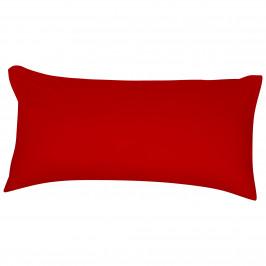 Satin-Zierkissenbezug (40x80, rot)
