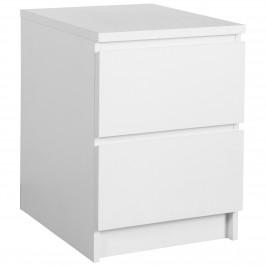 Nachttisch LIMFJORDEN (2 Schubladen, weiß)