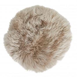 Sitzkissen Lammfell (Ø 34 cm, beige)