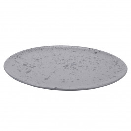 Raw Teller Ø 28cm grau, gemustert