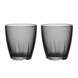 Bruk Glas klein 2er Pack grau