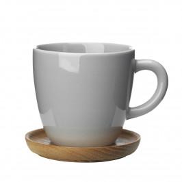 Höganäs Kaffeetasse kieselgrau glänzend
