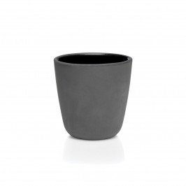 Raw Tasse doppelwandiges unglasiertes Steingut 25 cl schwarz