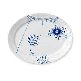 Blue Fluted Mega ovaler Teller Ø 33cm