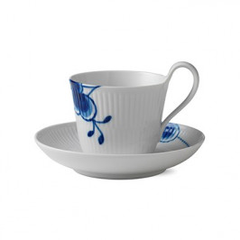 Blue Fluted Mega Teetasse mit hohem Henkel 25cl, hoher Henkel