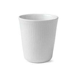 White Fluted Isolierbecher 29cl