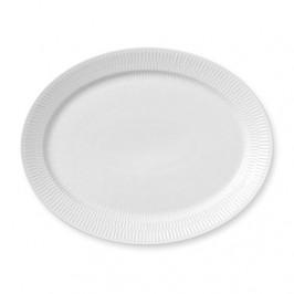White Fluted Teller oval Ø 33cm