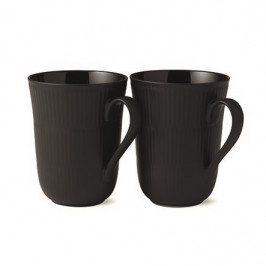 Black Fluted Tasse 2er Pack 33cl