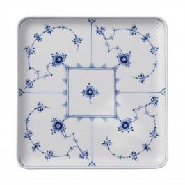 Blue Fluted Plain quadratischer Teller 20 x 20cm