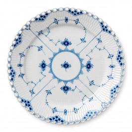 Blue Fluted Full Lace Teller Ø 27cm