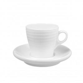 Blond Espressotasse mit Unterteller Stripe weiß