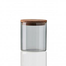 Raw Glasbehälter mit Holzdeckel klein