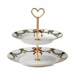 Star Fluted Christmas Etagere 23cm