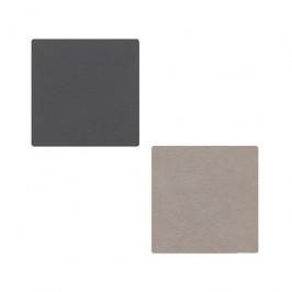 Nupo Untersetzer doppelseitig square anthracitgrau-hellgrau