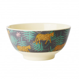 Rice melamin Schale medium Leopard and leaves