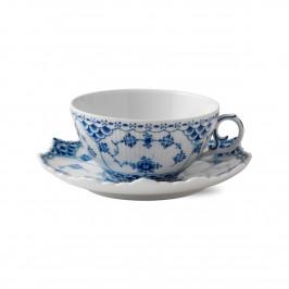 Blue Fluted Full Lace Teetasse m. Untertasse 22cl