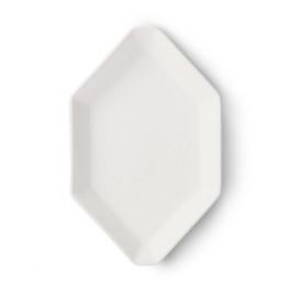 Athena oktogon kleiner Teller 14cm Matt weiß