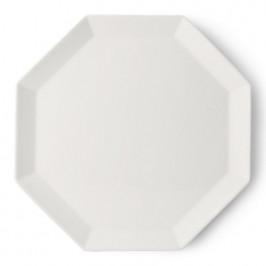 Athena oktogon Teller 27cm weiß