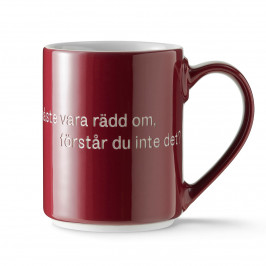 Astrid Lindgren Tasse, livet är en sak schwedischer Text