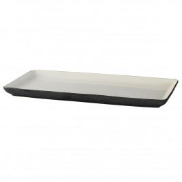 Esrum Teller 18 x 36cm Weiß-grau