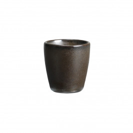 Raw Eierbecher unglasiertes Steingut Metallic brown