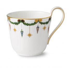 Star Fluted Christmas Tasse mit hohem Henkel 33cl