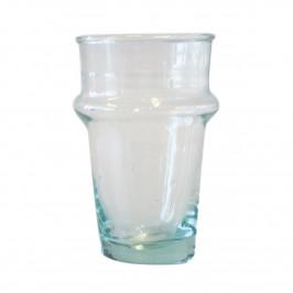 Trinkglas aus recyceltem Glas groß Klar-grün
