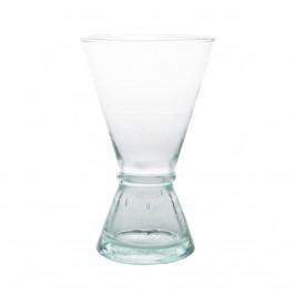 Weinglas aus recyceltem Glas medium Klar-grün