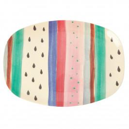 Rice melamin Teller 22 x 30cm Louise's stripe
