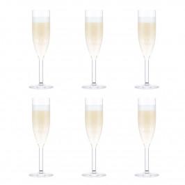 Oktett Champagnerglas 6er Pack 12cl