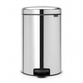 New Icon Treteimer 20 Liter brilliant steel