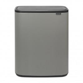 Bo touch bin 2 x 30 L Mineral concrete grey