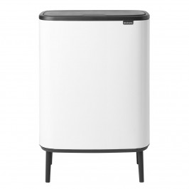 Bo touch bin high 60 L weiß