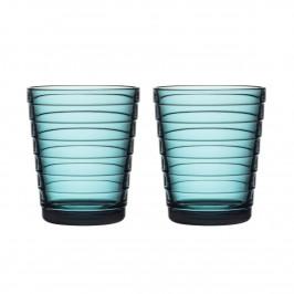 Aino Aalto Wasserglas 22cl im 2er Pack meeresblau