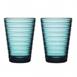 Aino Aalto Wasserglas 33cl im 2er Pack meeresblau