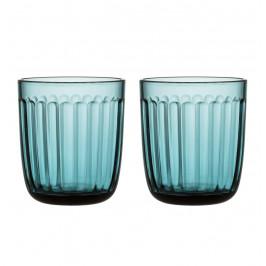Raami Wasserglas 2er-Pack meeresblau