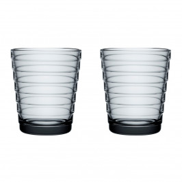 Aino Aalto Wasserglas 22cl im 2er Pack grau