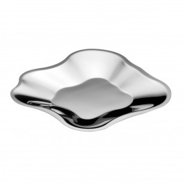 Alvar Aalto Edelstahl-Schale flach klein