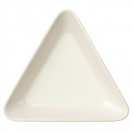 Teema dreieckiger Teller weiß weiß