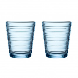 Aino Aalto Wasserglas 22cl im 2er Pack Aqua