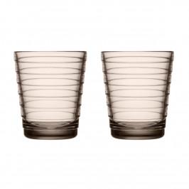 Aino Aalto Wasserglas 22cl im 2er Pack Leinen