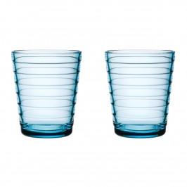 Aino Aalto Wasserglas 22cl im 2er Pack hellblau