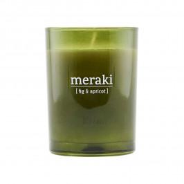 Meraki Duftkerze grünes Glas 35 Stunden Fig-apricot
